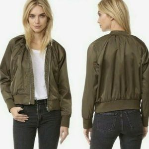 Free People Bomber Jacket Womens Size Small Green